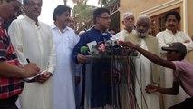 Karachi: Grand Democratic Alliance (GDA) Ayaz Latif Palijo's Media Briefing, with Pir Sb Pagara & Others GDA Leader