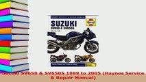 PDF  Suzuki SV650  SV650S 1999 to 2005 Haynes Service  Repair Manual Read Online