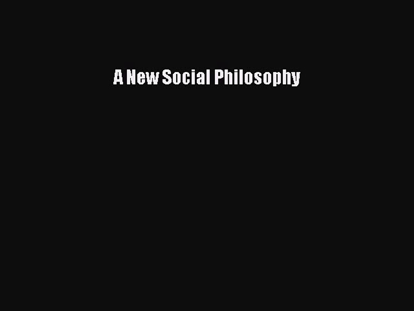 Hegels Social Philosophy: The Project of Reconciliation