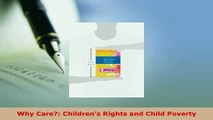 PDF  Why Care Childrens Rights and Child Poverty  EBook