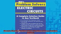 Downlaod Full PDF Free  Electric Circuits Problem Solver Problem Solvers Solution Guides Full Free