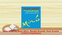 PDF  Joan Miro by Joan Miro Margit Rowell Paul Auster 1992 Paperback PDF Full Ebook