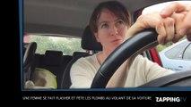 Une femme se fait flasher et pète les plombs au volant de sa voiture ! (Vidéo)