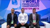 Javier FERNANDEZ - SP kiss and cry - ISU World Championships 2016