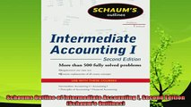 new book  Schaums Outline of Intermediate Accounting I Second Edition Schaums Outlines