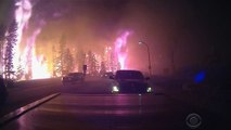 Wildfire drives massive evacuation in Alberta, Canada