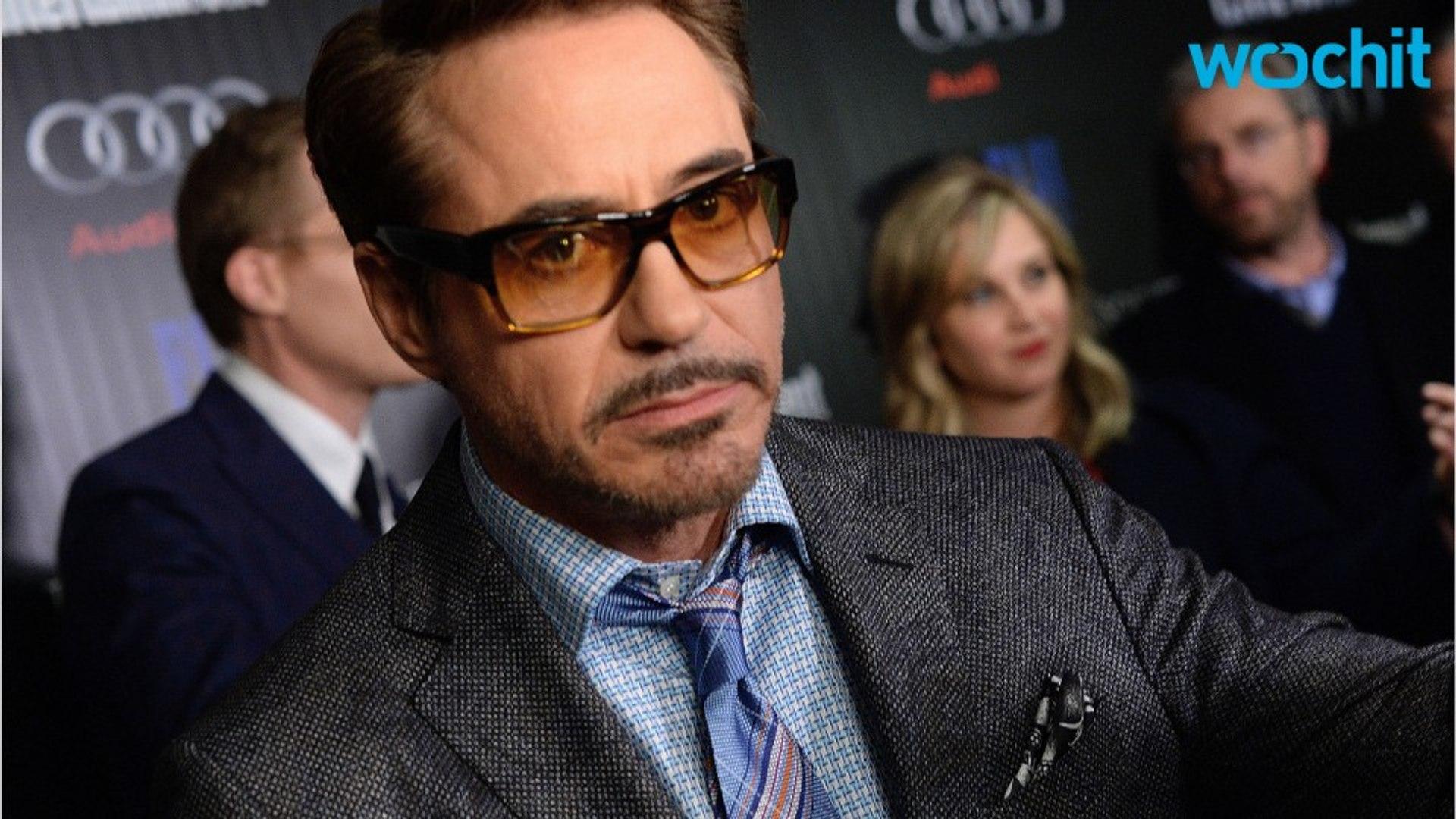 Robert Downey Jr. Beats A Captain America Pinata