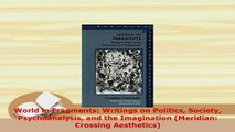 PDF  World in Fragments Writings on Politics Society Psychoanalysis and the Imagination Ebook