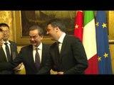 Roma - Renzi incontra il Ministro degli Affari Esteri della Cina (05.05.16)