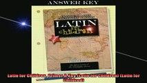 READ book  Latin for Children Primer A Key Latin for Children Latin for Childred Full EBook