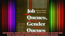 READ book  Job Queues Gender Queues Explaining Womens Inroads into Male Occupations Women In The  FREE BOOOK ONLINE
