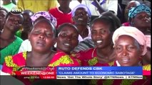 Deputy President William Ruto accuses opposition Cord leaders of being economic saboteurs
