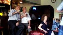"Jack Meehan plays ""Irish Rebel"" at Drury's Pub in Ballinkill, Aug. 15, 2010"