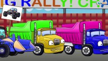 Car Cartoons for kids. Monster Truck and Police Car. Heavy Vehicles - Truck, Bulldozer. Episode 129