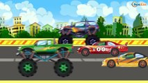 ✔ Car Cartoons for children. Racing Cars, Monster Truck. Race with obstacles. Funny Cars TV ✔