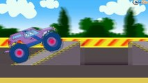 ✔ Monster Truck with Racing Car. Cars Cartoons for kids. New Track with obstacles. 20 Minutes ✔