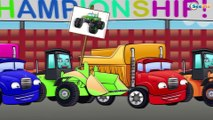 ✔ Monster Truck with Heavy Vehicles — Truck and Bulldozer / Cars Cartoons Compilation for kids ✔