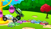 ✔ Monster Truck with Police Car / Car Service / Extreme Race / Cartoons Compilation for children ✔