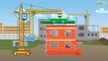Car Cartoons. Truck. Heavy vehicles at the Construction Site. Cars build a house! Emergency Cars TV