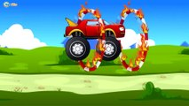 Car Cartoons. Monster Truck Race with obstacles. Extreme Speed & Jumping. Emergency Cars TV
