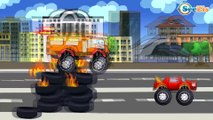 ✔ Car Cartoons. Tow Truck. Monster Truck Race on the Track with obstacles. Racing. Episode 56 ✔