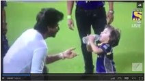 Shah Rukh Khan Playing With Abram During IPL 2016 At Kolkata