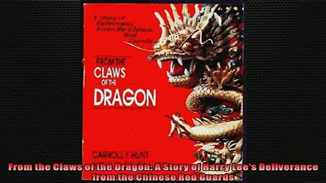 For you  From the Claws of the Dragon A Story of Harry Lees Deliverance from the Chinese Red