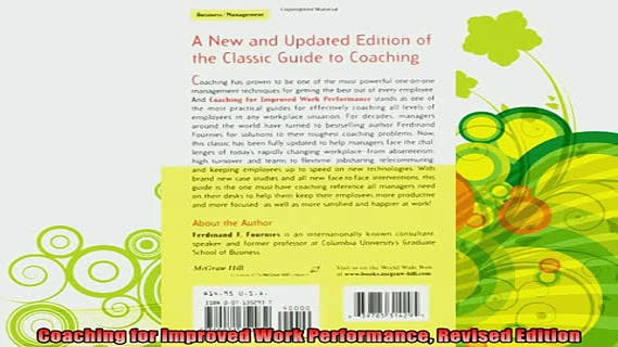 best book  Coaching for Improved Work Performance Revised Edition