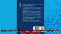 READ book  Values and Stakeholders in an Era of Social Responsibility CutThroat Competition Full Free