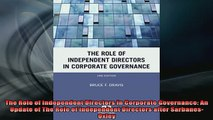 READ book  The Role of Independent Directors in Corporate Governance An Update of The Role of Online Free