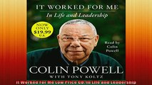 READ book  It Worked For Me Low Price CD In Life and Leadership  FREE BOOOK ONLINE