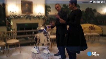 Le couple Obama danse avec des Stormtroopers et R2-D2