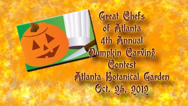 Atlanta Botanical Garden's 4th Annual Great Chefs of Atlanta Pumpkin Carving Contest - Oct 25, 2012