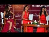 Red H0T Chitrangada Singh, Lisa Haydon & Shibani Dandekar At Scoth Whisky Black n White Launch