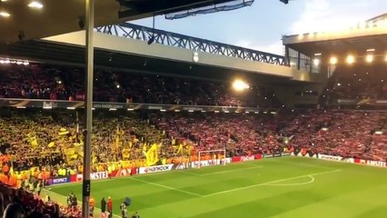 Youll Never Walk Alone Liverpool - Borussia Dortmund 4-3 YNWA 14-04-2016 HD