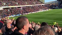 Burnley F.C. fans invade the pitch after final whistle at Turf Moor! 02-05-16