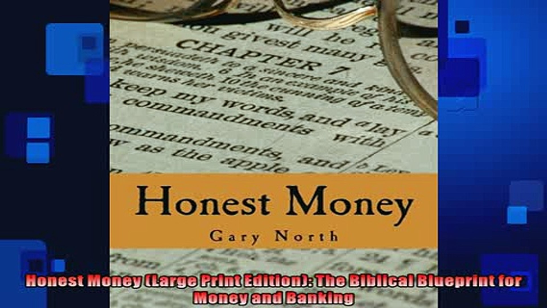READ book  Honest Money Large Print Edition The Biblical Blueprint for Money and Banking  BOOK ONLIN
