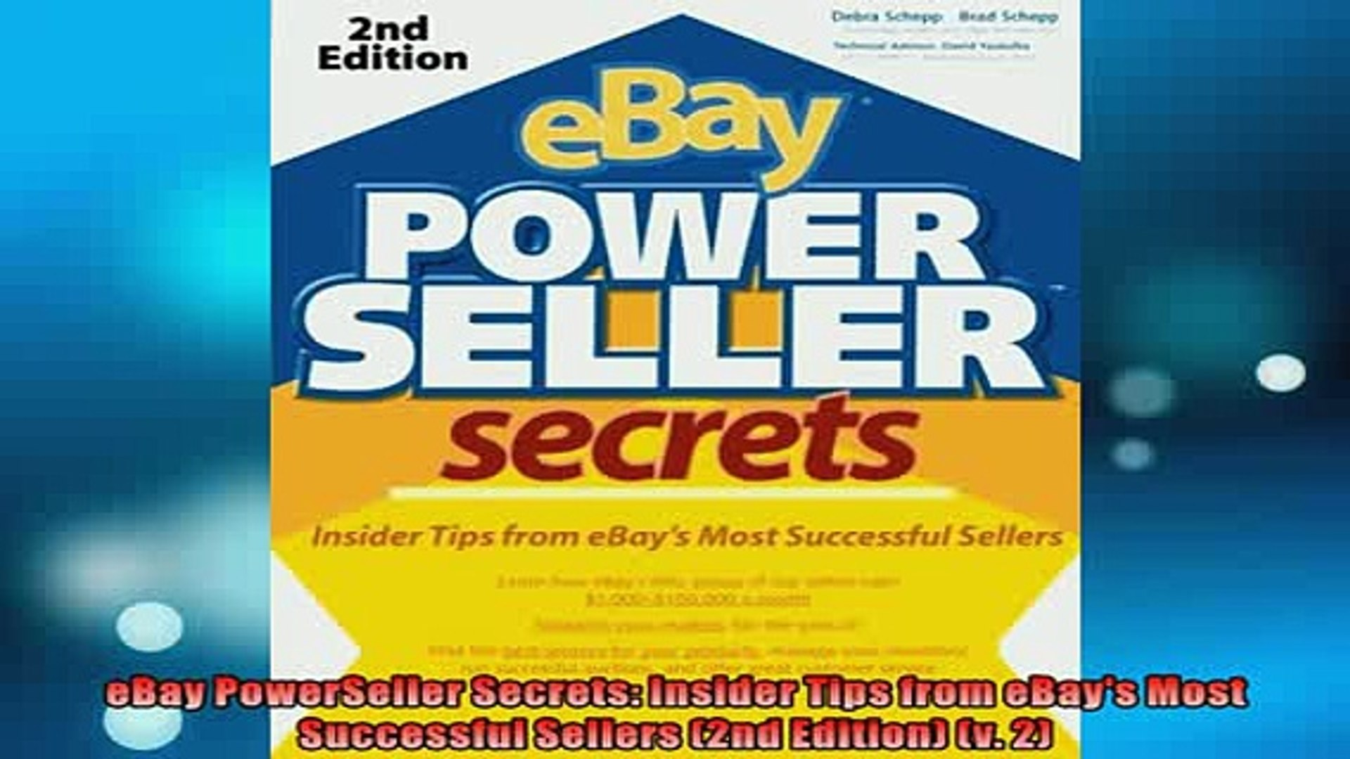 Free Download Ebay Powerseller Secrets Insider Tips From Ebays Most Successful Sellers 2nd Edition Read Online Video Dailymotion