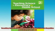 READ book  Teaching Science in Elementary and Middle School A Cognitive and Cultural Approach Full EBook