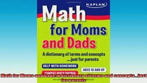 Free Full PDF Downlaod  Math for Moms and Dads A dictionary of terms and conceptsjust for parents Full EBook