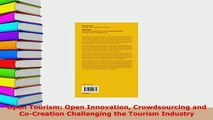 PDF  Open Tourism Open Innovation Crowdsourcing and CoCreation Challenging the Tourism Download Full Ebook
