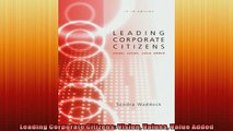 EBOOK ONLINE  Leading Corporate Citizens Vision Values Value Added  BOOK ONLINE
