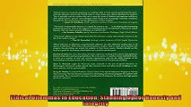 FREE DOWNLOAD  Ethical Dilemmas in Education Standing Up for Honesty and Integrity READ ONLINE