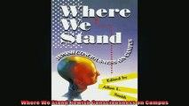 READ book  Where We Stand Jewish Consciousness on Campus Full Free