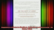 FREE PDF  Happiness at Work Be Resilient Motivated and Successful  No Matter What  DOWNLOAD ONLINE