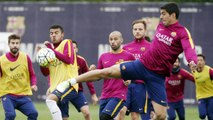 FC Barcelona training session: Final training session before the derby