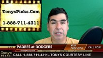 San Diego Padres vs. LA Dodgers Pick Prediction MLB Baseball Odds Preview 4-29-2016