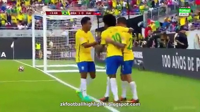 All Goals - Brazil 7-1 Haiti -08-06-2016