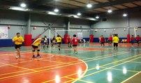 LB mens Volleyball Star Olympics theme TJ Hotdogs vs Star margarine