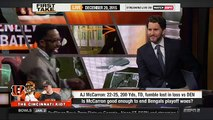 First Take Today ESPN First Take [12-29-15] - AJ McCarron of Cincinnati Bengals set for MRI on wr